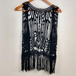 Love Tree Jackets & Coats - 💘 Love Tree Boho Vest Knit Fringe Funky Large L